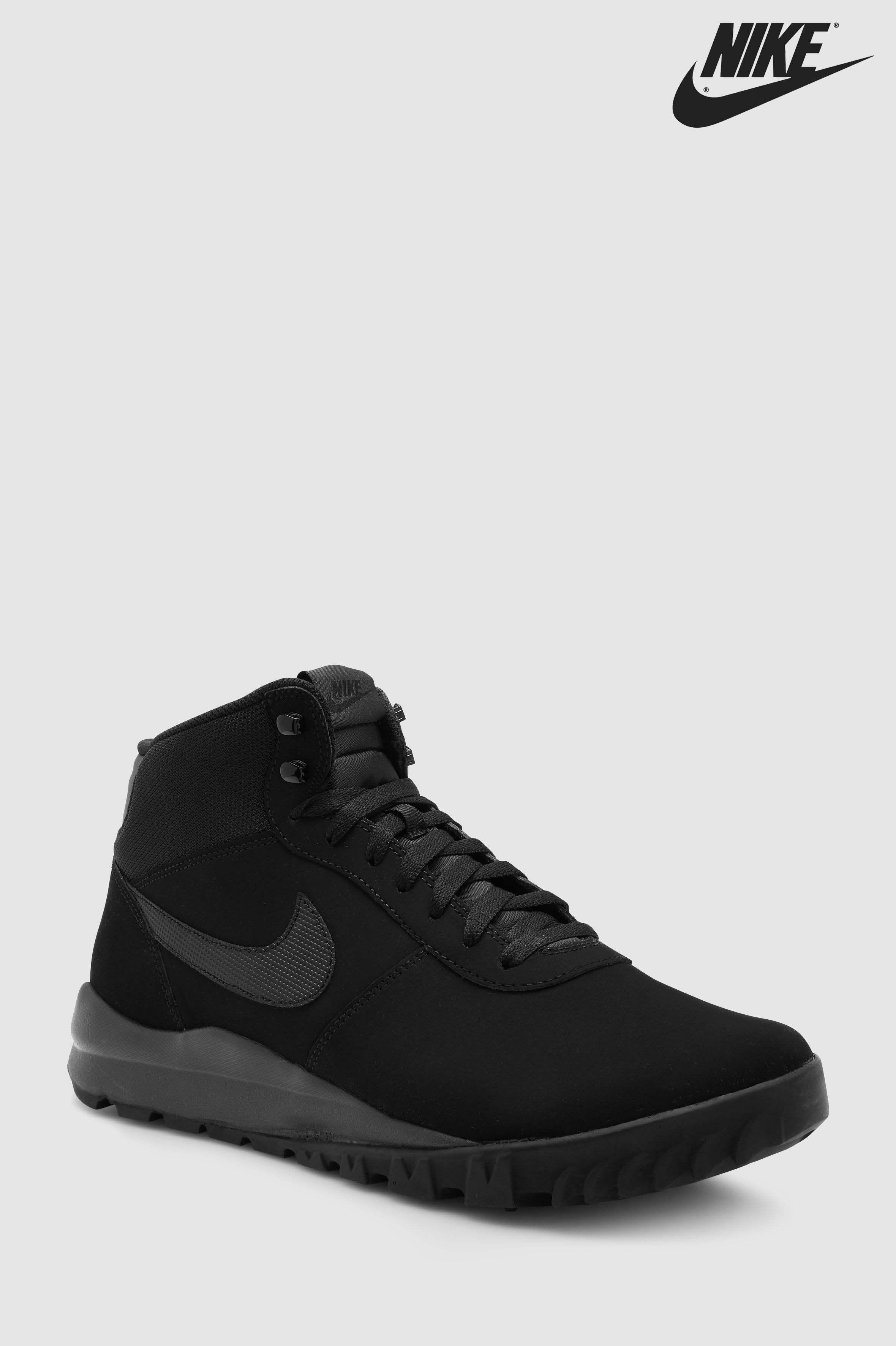ac8fe90594e81a Mens Nike Hoodland Suede Boot - Black