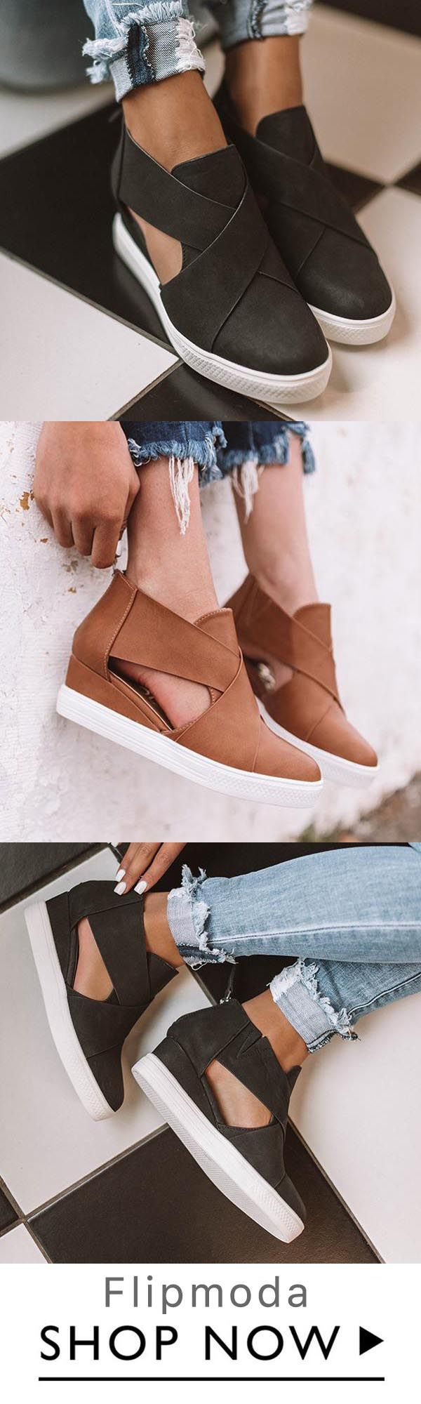 Women Fashion Stylish Wedge Sneakers