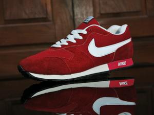Jual Sepatu Olahraga Nike Waffle Trainer Merah Putih Sport
