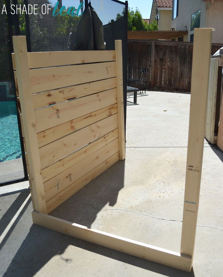 How to build a pool or ac equipment cover building a