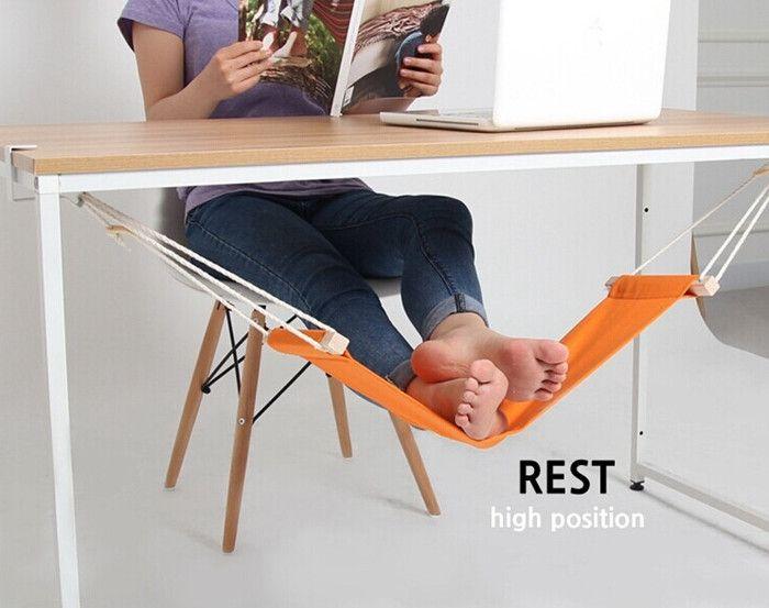 Under Desk Foot Hammock Mini Office Foot Rest Adjustable Desk
