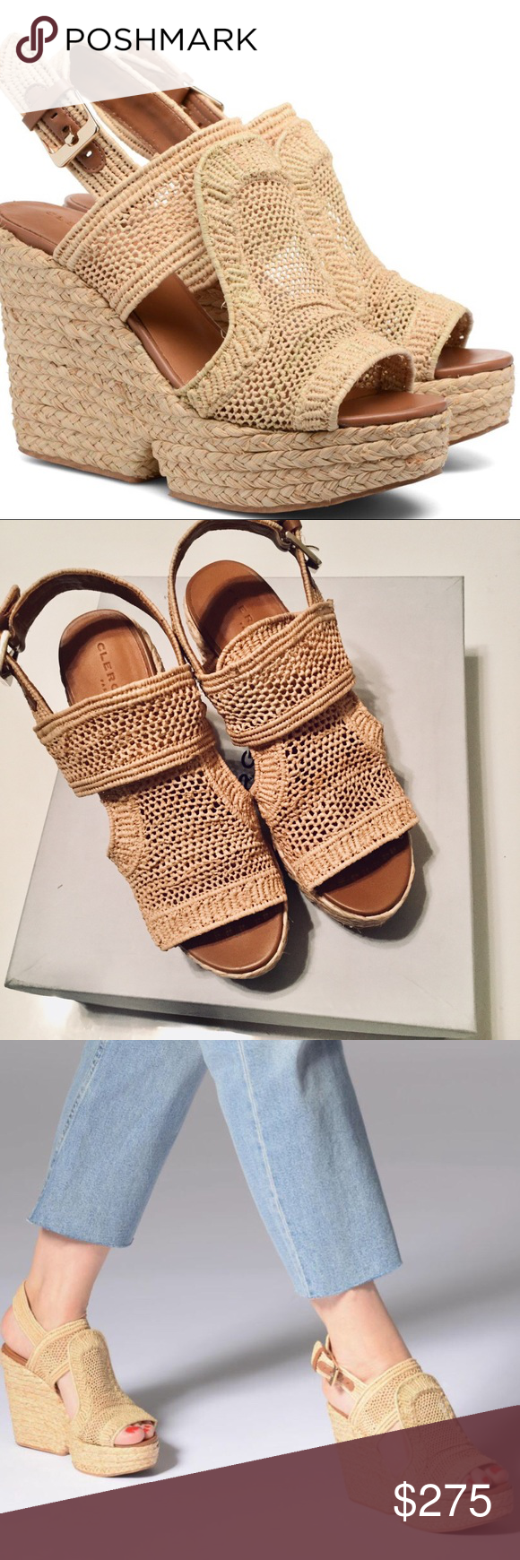 9b6a86b7fdc Robert Clergerie Dypaille Wedge Sandals Size 7.5 Robert Clergerie Dypaille  Wedge Sandals Size 7.5 EURO SIZE