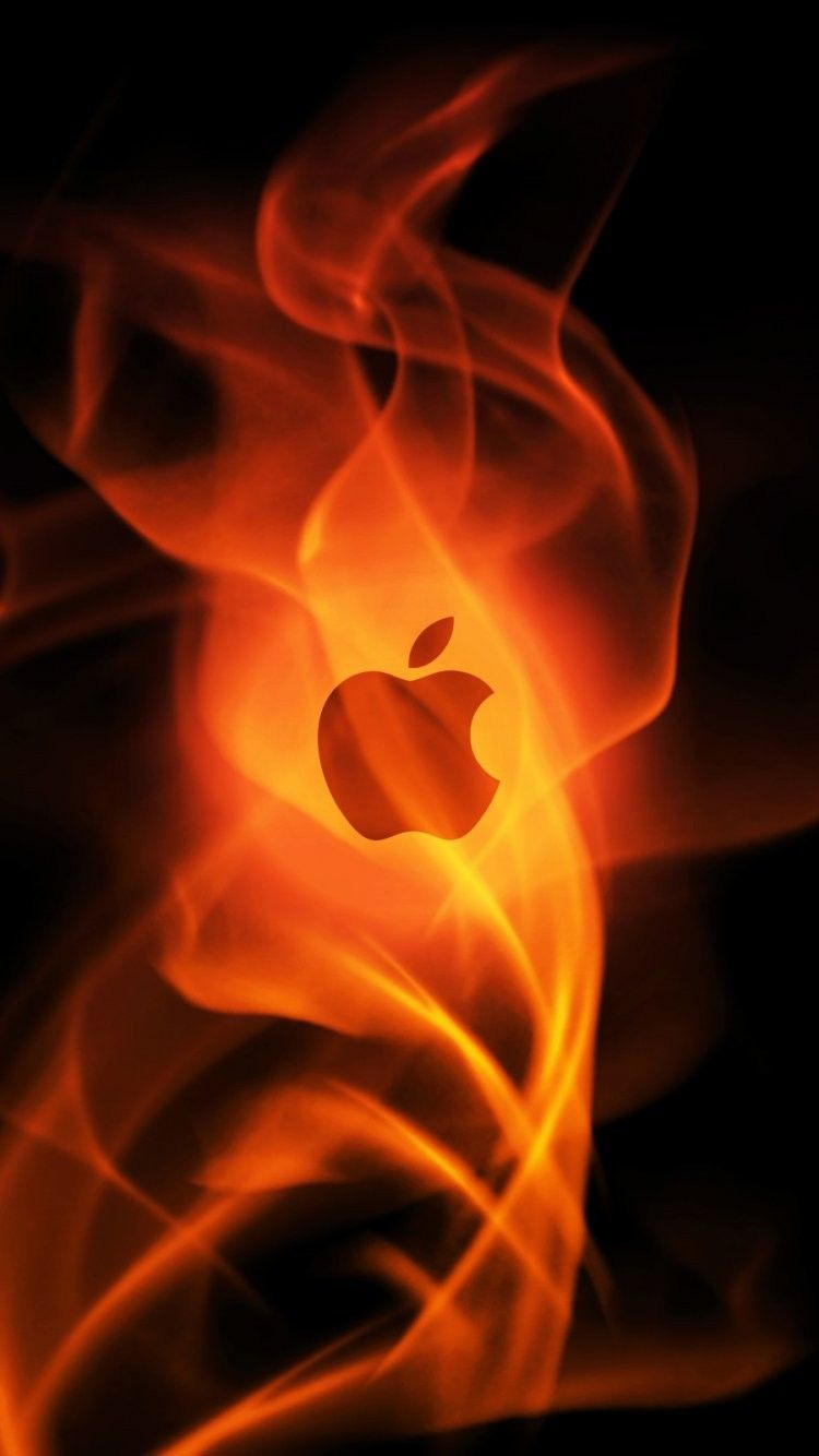 Cool Apple Logo Iphone 6 Wallpaper 23075 Logos Iphone 6 Wallpapers Fire Apple Logo Iphone 6 Wallp Apple Logo Apfel Hintergrund Hintergrundbilder Iphone