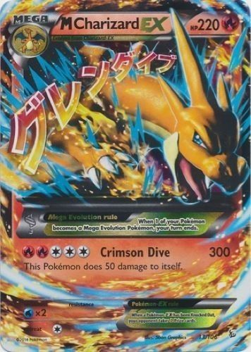 M Charizard Ex 13 106 Pokemon Xy Flashfire Mega Ultra Rare Card