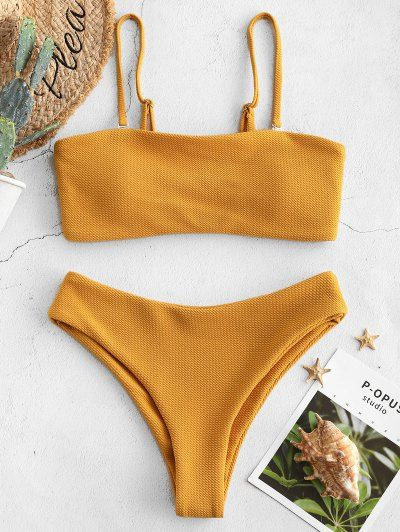 Photo of ZAFUL  Strukturiertes Bandeau-Bikini-Set
