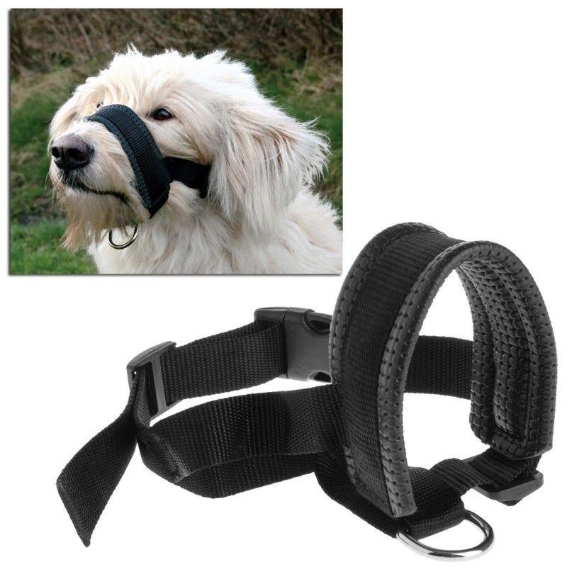 6 19 Pet Dog Padded Head Collar Gentle Halter Leash Leader Stop