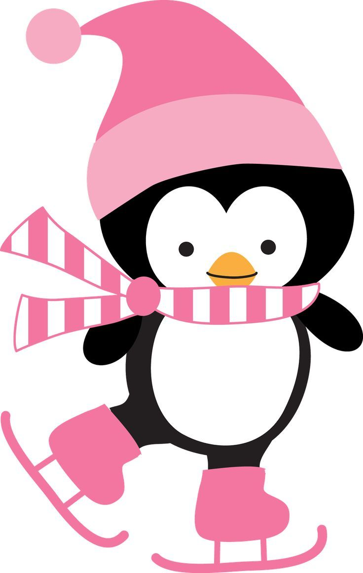 cute ice skating penguin in pinguin party pinterest rh pinterest co uk Hockey Clip Art Ice Skating Pond Clip Art
