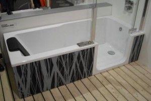 badewanne mit dusche integriert badezimmer fliesen pinterest badewanne mit dusche. Black Bedroom Furniture Sets. Home Design Ideas