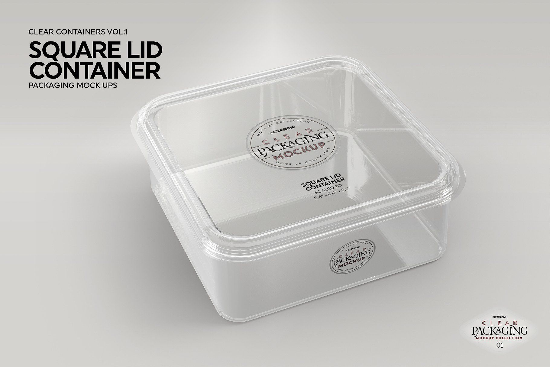 Download 01 Clear Container Packaging Mockups Packaging Mockup Lidded Container Clear Container