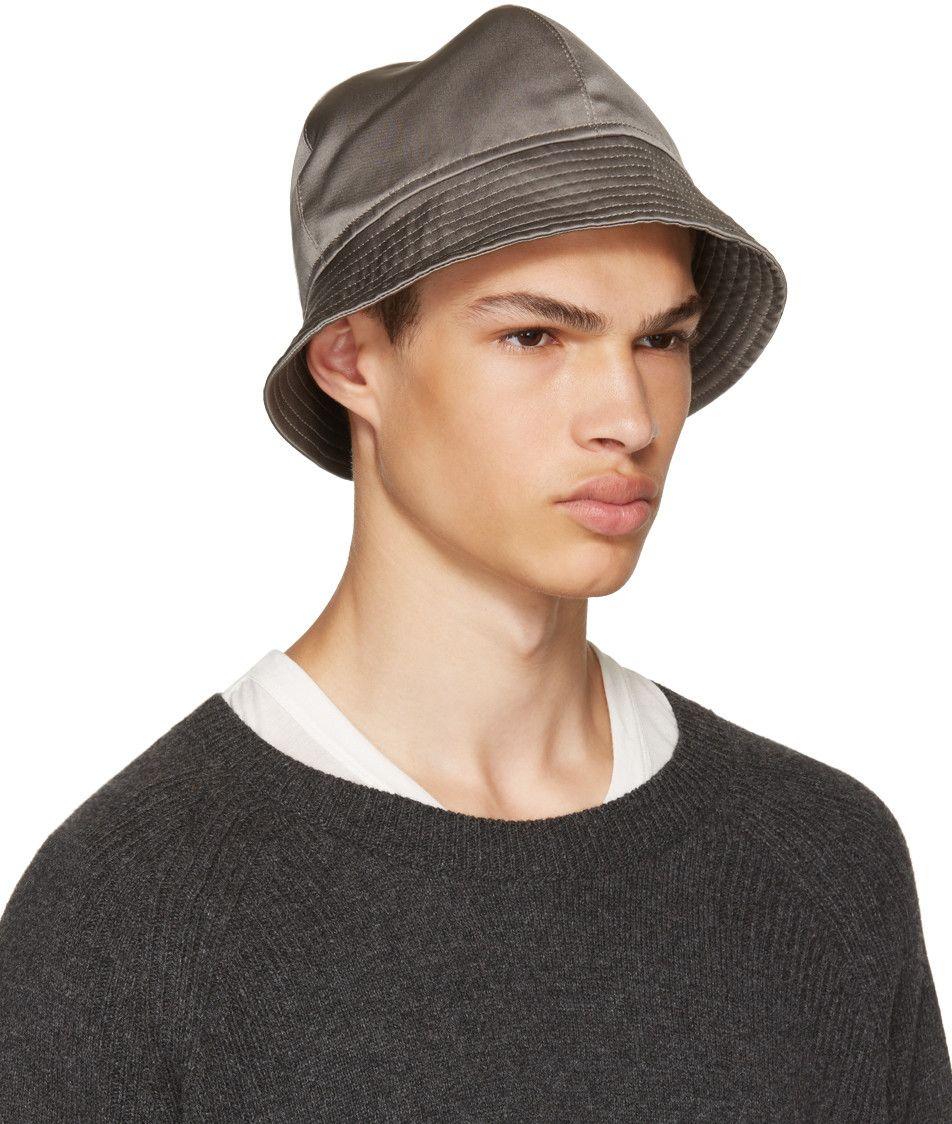 155913c08 Rick Owens - Grey Gilligan Bucket Hat   HATS in 2019   Hats, Rick ...