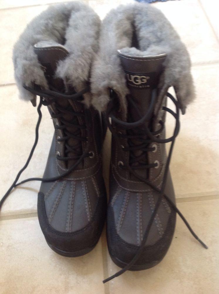 UGG Snow Boots Event Vibram Men's 8.5 EUC Dark Grey Women's 10-10.5 #UGGAustralia #SnowWinter