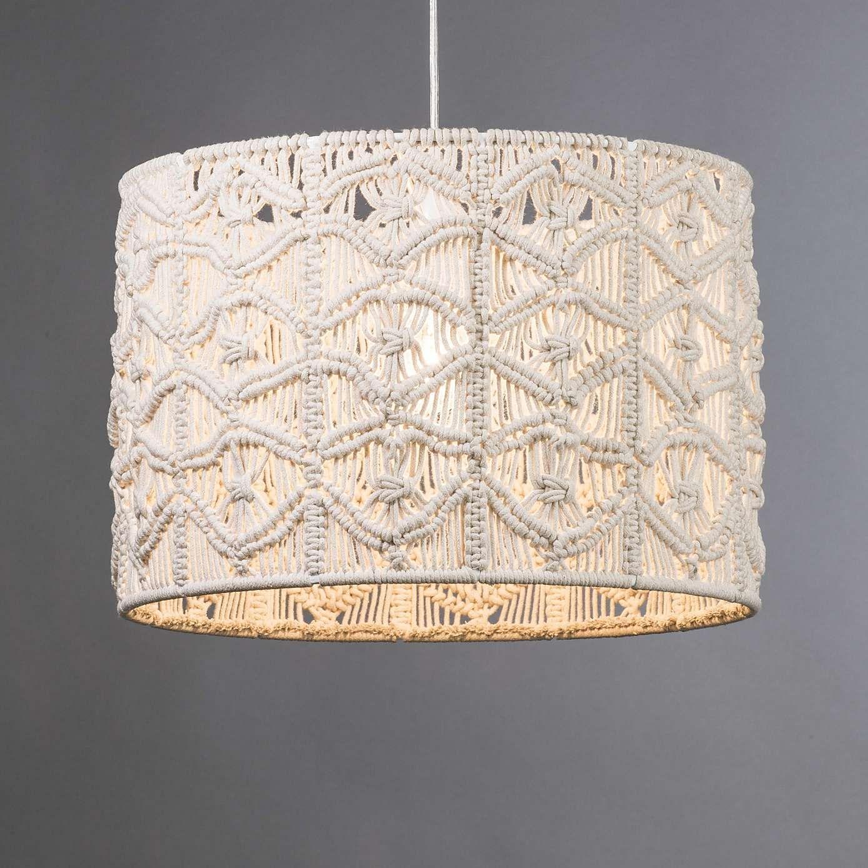Elements Natural Castro Macrame Pendant Dunelm Macrame Patterns Hanging Lamp Shade Macrame