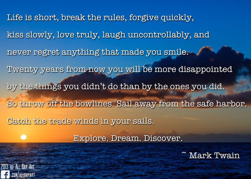 Great Mark Twain Quote Photo Taken Off The Poipu Coast In Kauai Hawaii Mark Twain Quotes Make You Smile Life