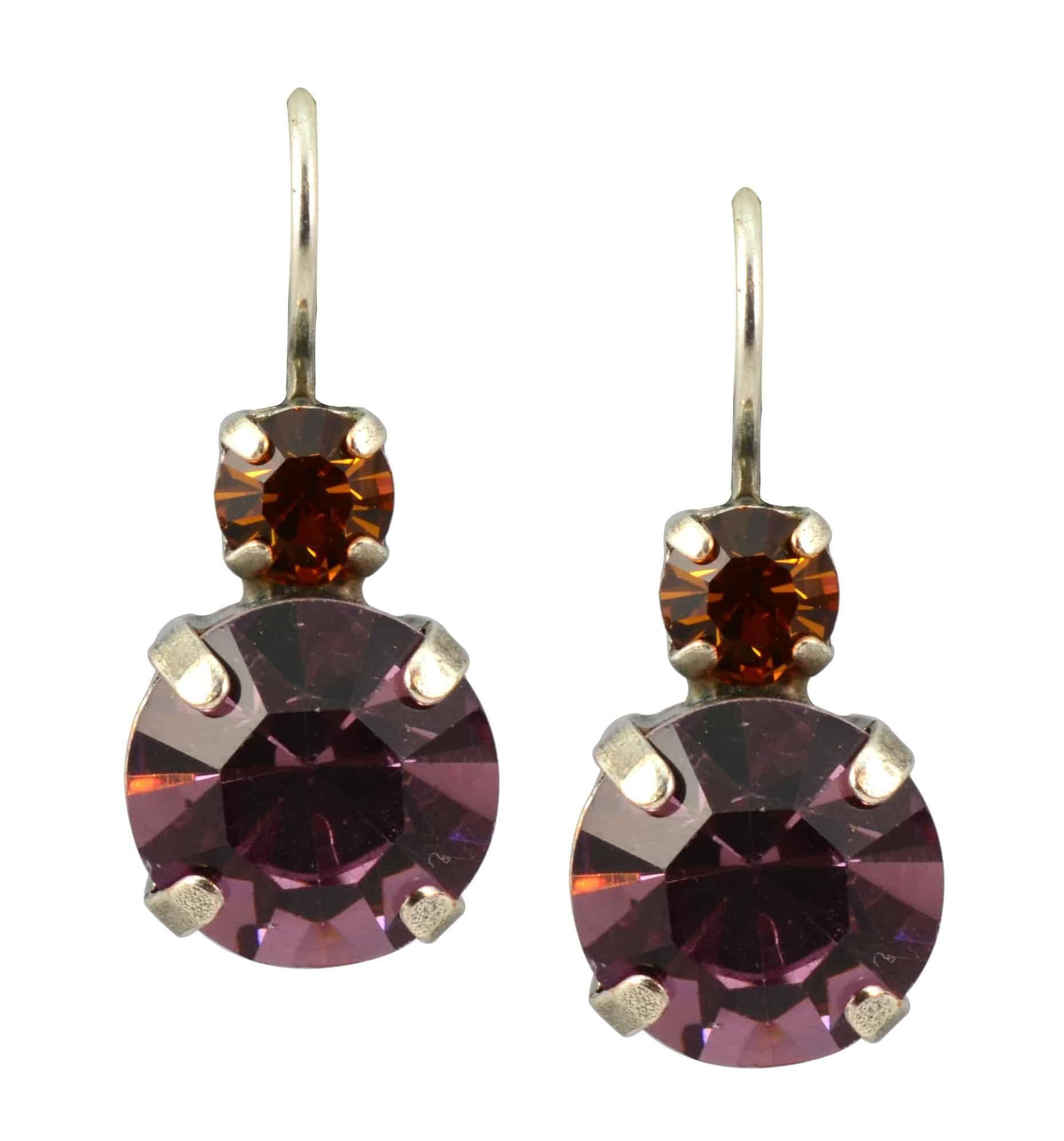 "Mariana ""Dream"" Silver Plated Swarovski Crystal Petite Round Drop Earrings"