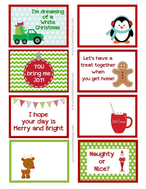 *EXCLUSIVE* Super Cute Christmas Lunch Box Notes!! |Christmas Lunch Box Notes