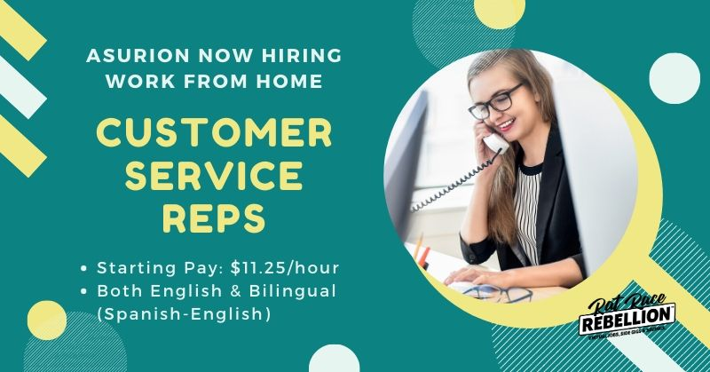 Work At Home For Asurion Now Hiring Customer Service Reps