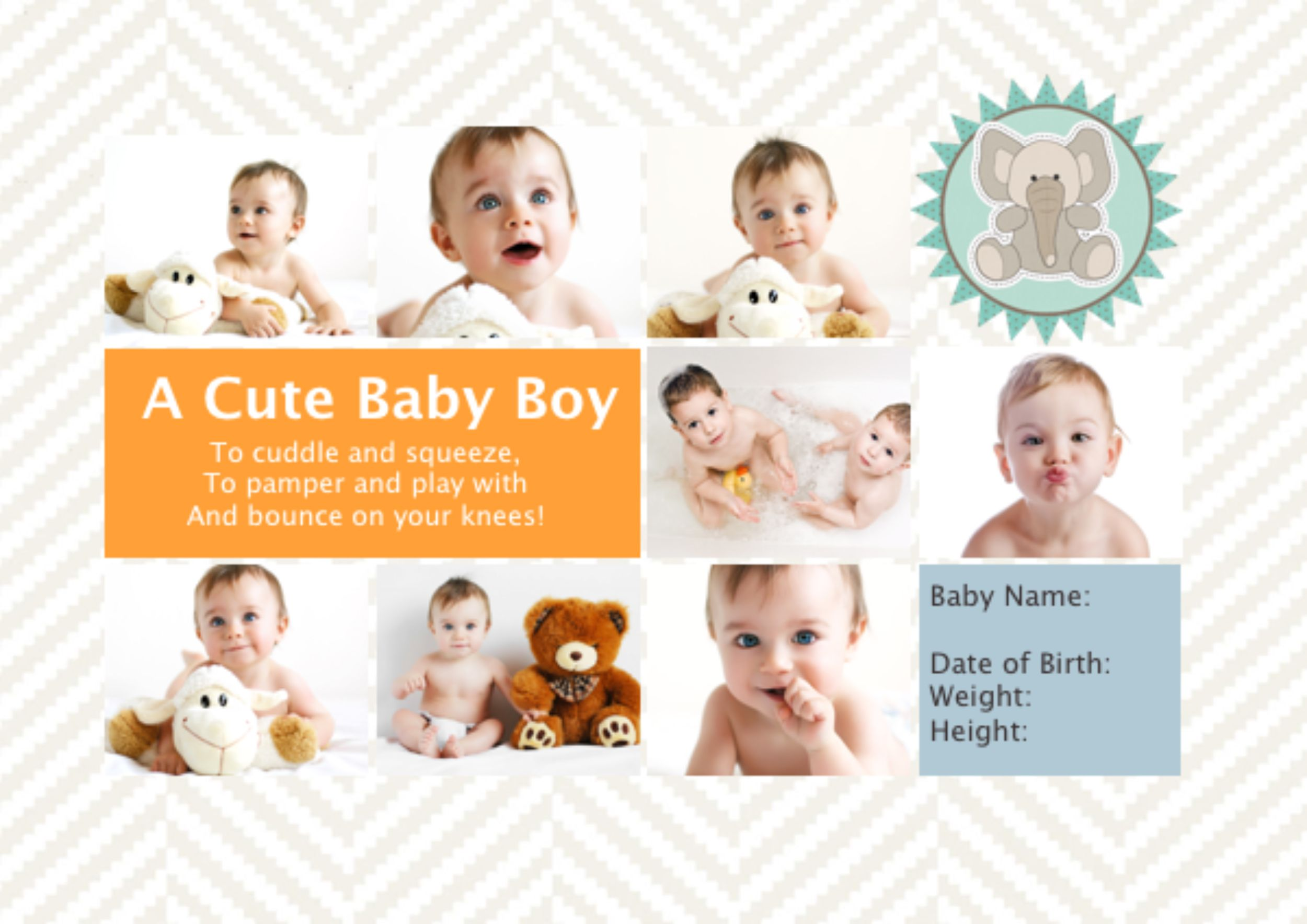 collage what are you waiting for a cute baby boy photobook template is right in
