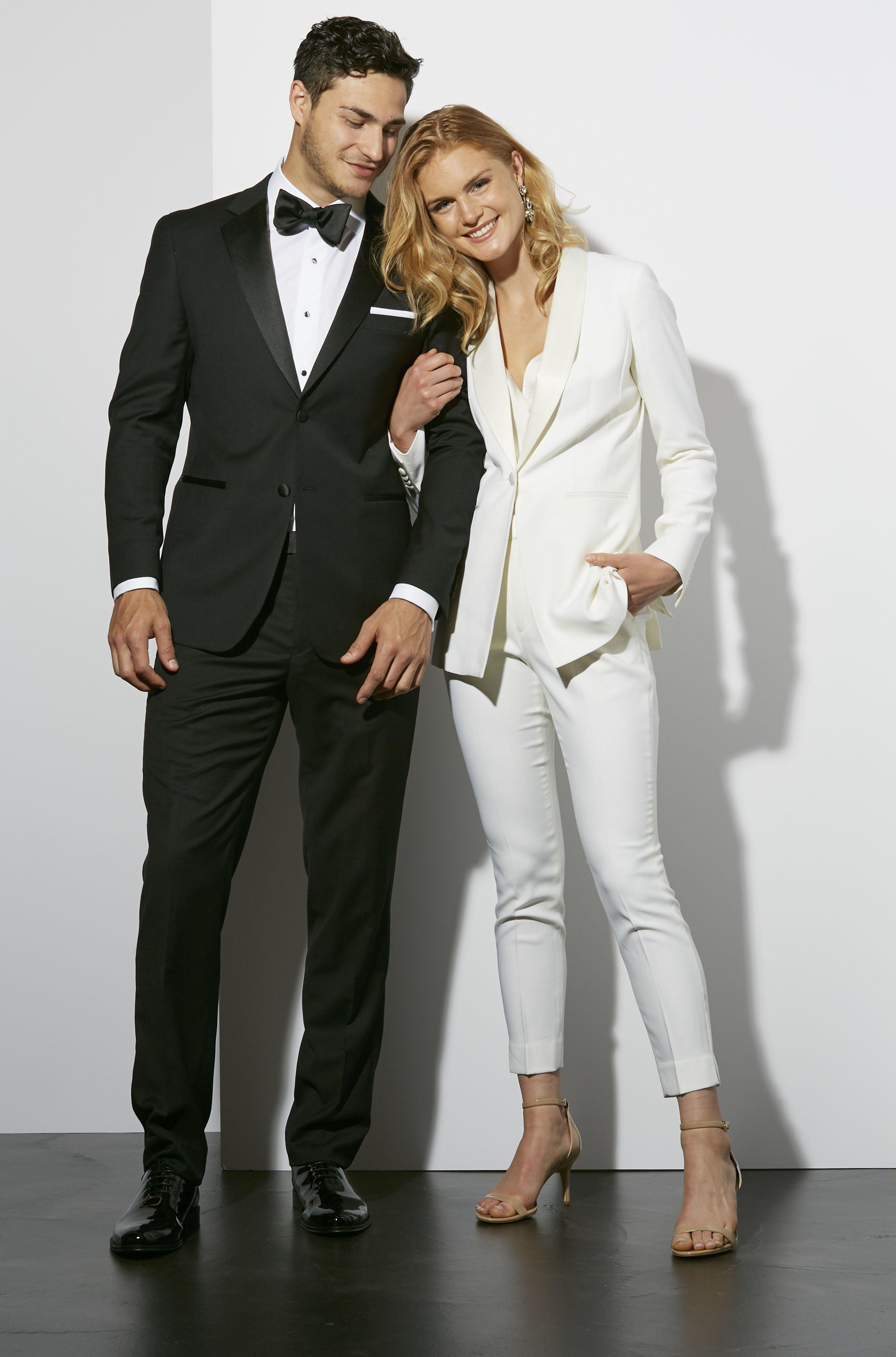 Womens Wedding Suit in White   The Groomsman Suit   Women