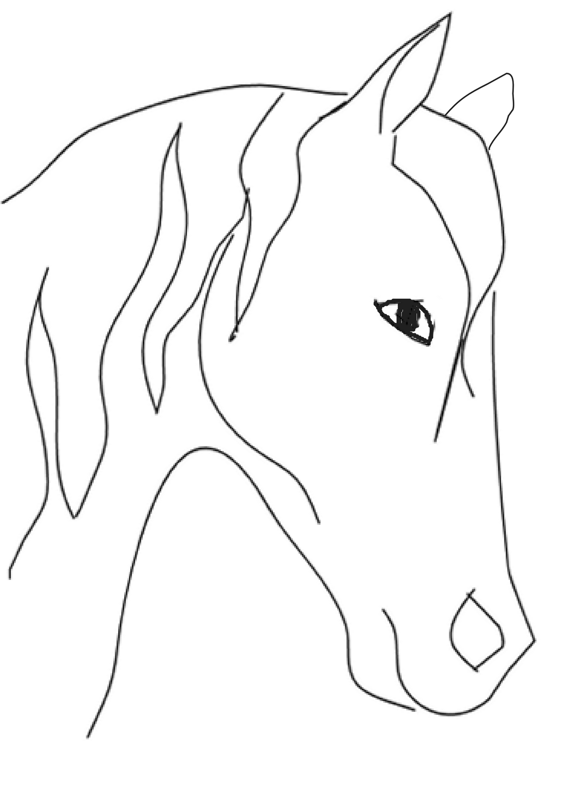 Cute Horse Drawing Step By Step   PeepsBurgh