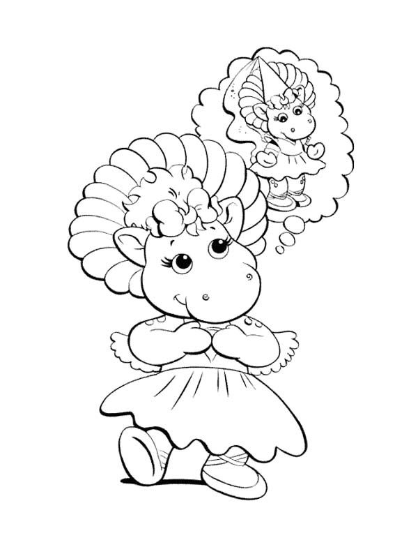 Barney Girl Coloring Page | Barney the Dinosaur & Friends | Pinterest
