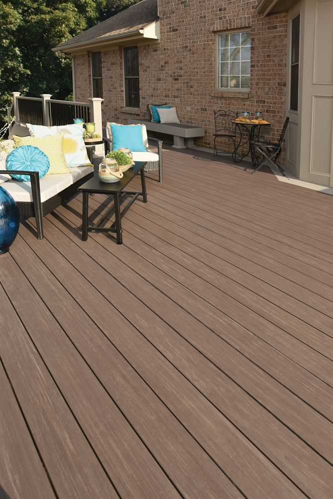 Shop AZEK 1 x 6 Dark Hickory Composite Decking at Lowe's