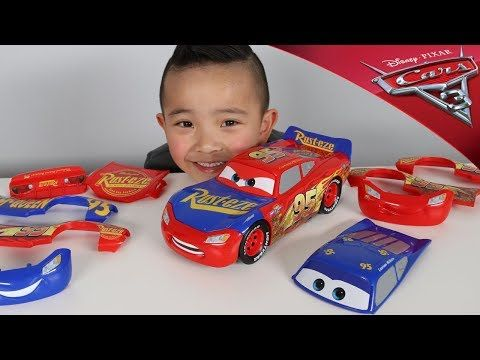 0d28f5435 Change   Race Disney Cars 3 Toys Lightning McQueen Unboxing Fun With Ckn  Toys - YouTube