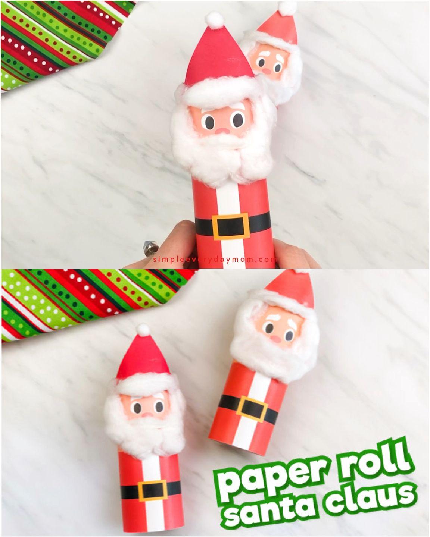 Toilet Roll Santa Craft For Kids