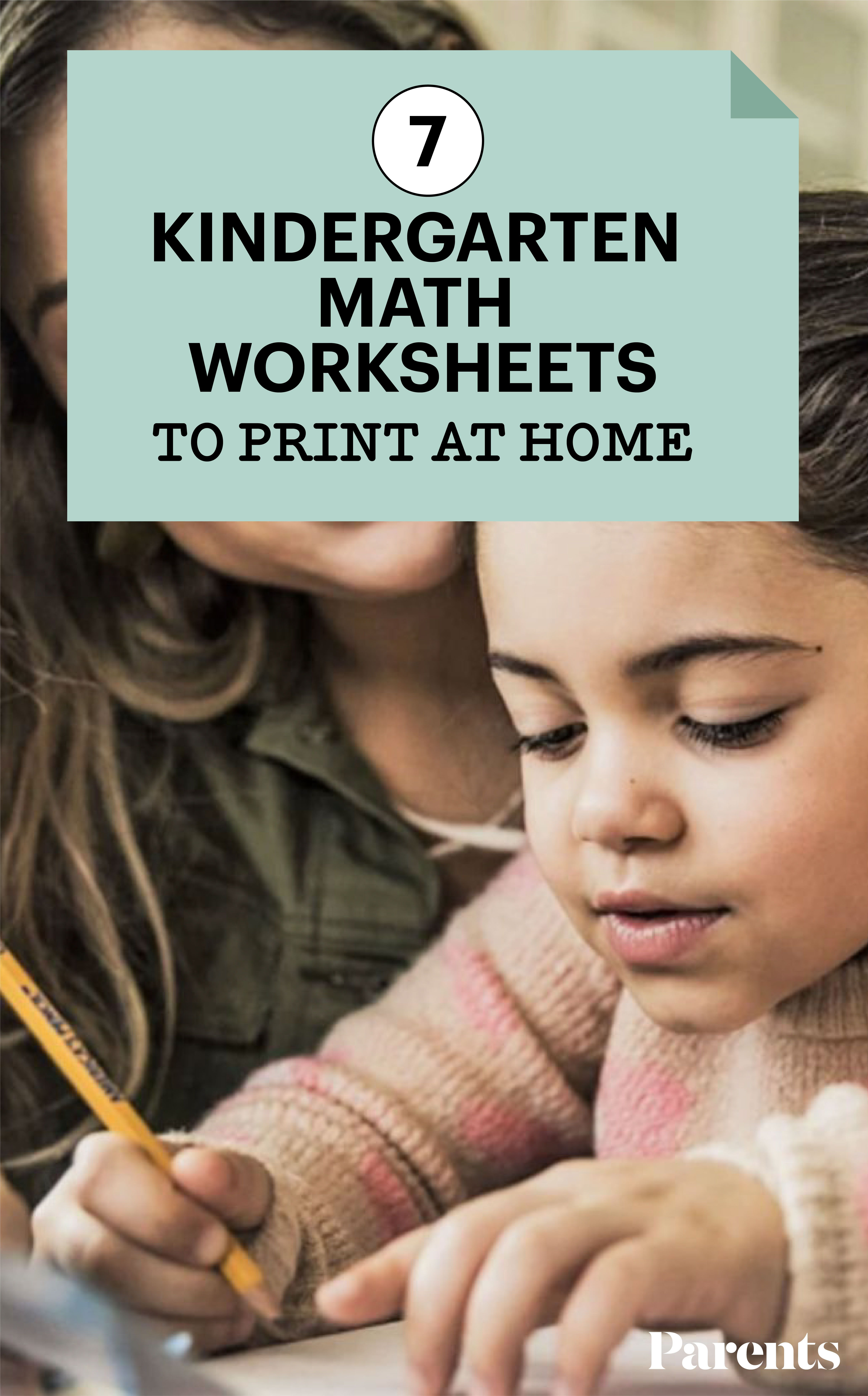 7 Kindergarten Math Worksheets To Print At Home In