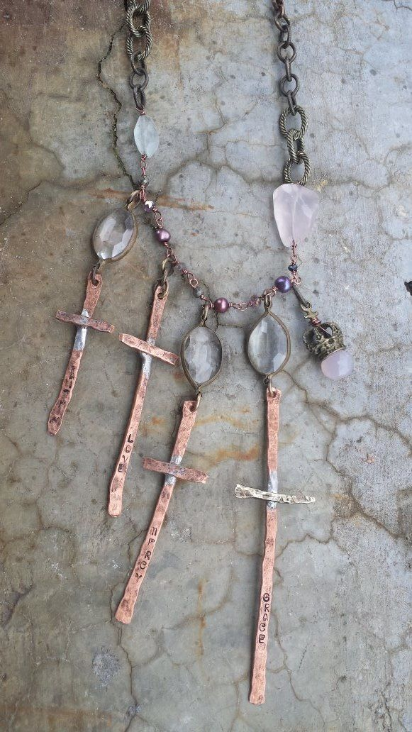 Soldered crosses - I would go CRAZY to have this!!! I can't find it anywhere!!!