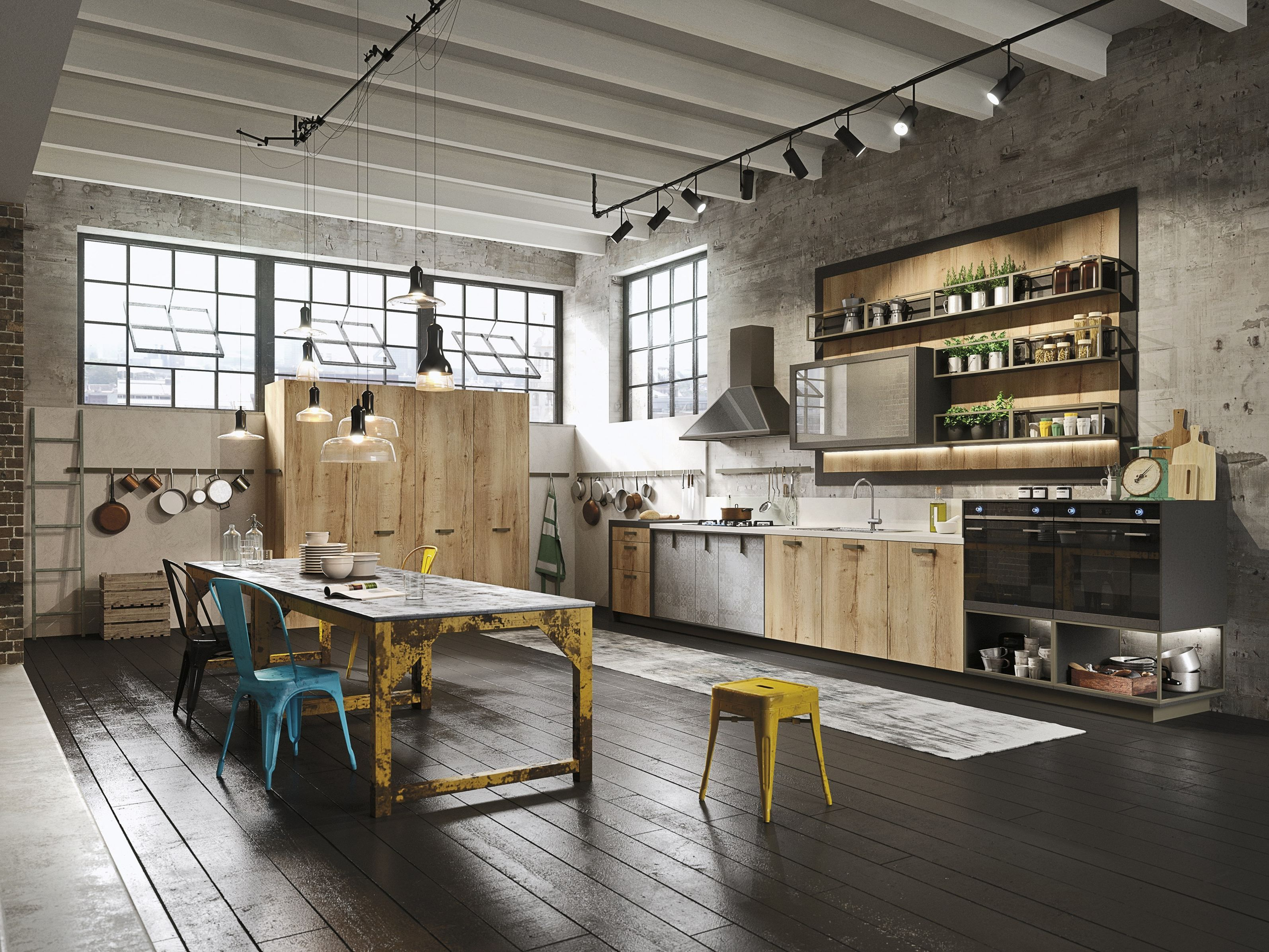 LOFT Linear kitchen SISTEMA Collection by Snaidero design Michele Marcon Loft