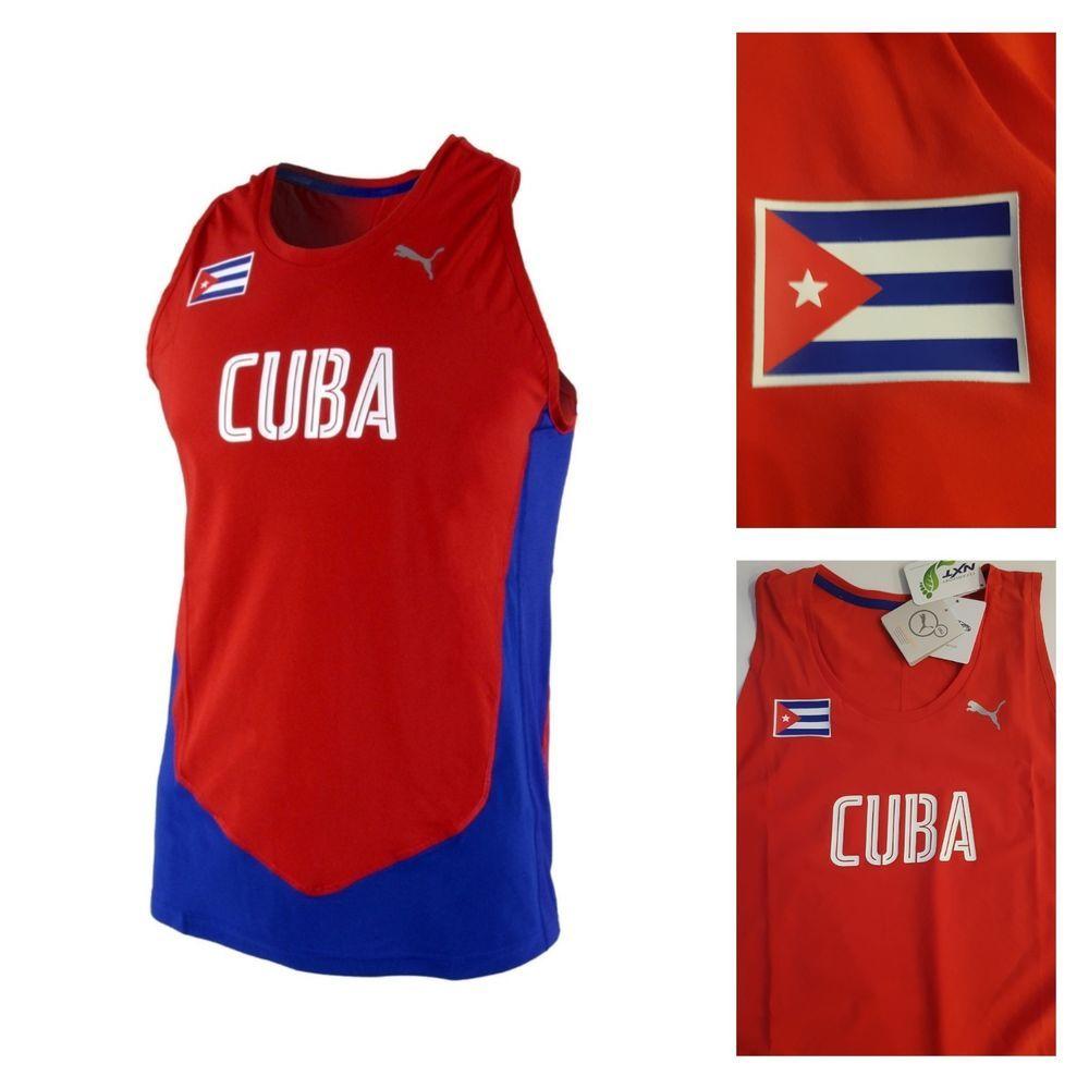 PUMA PRO ELITE TEAM CUBA Running Singlet Track And Field Olympic ...