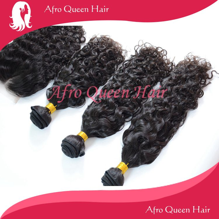 Brazilian Curl 3pcs hair wefts with a middle part lace closure 30%off now.  http://www.aliexpress.com/store/group/Hair-Wefts-with-a-Closure/302731_253740928.html