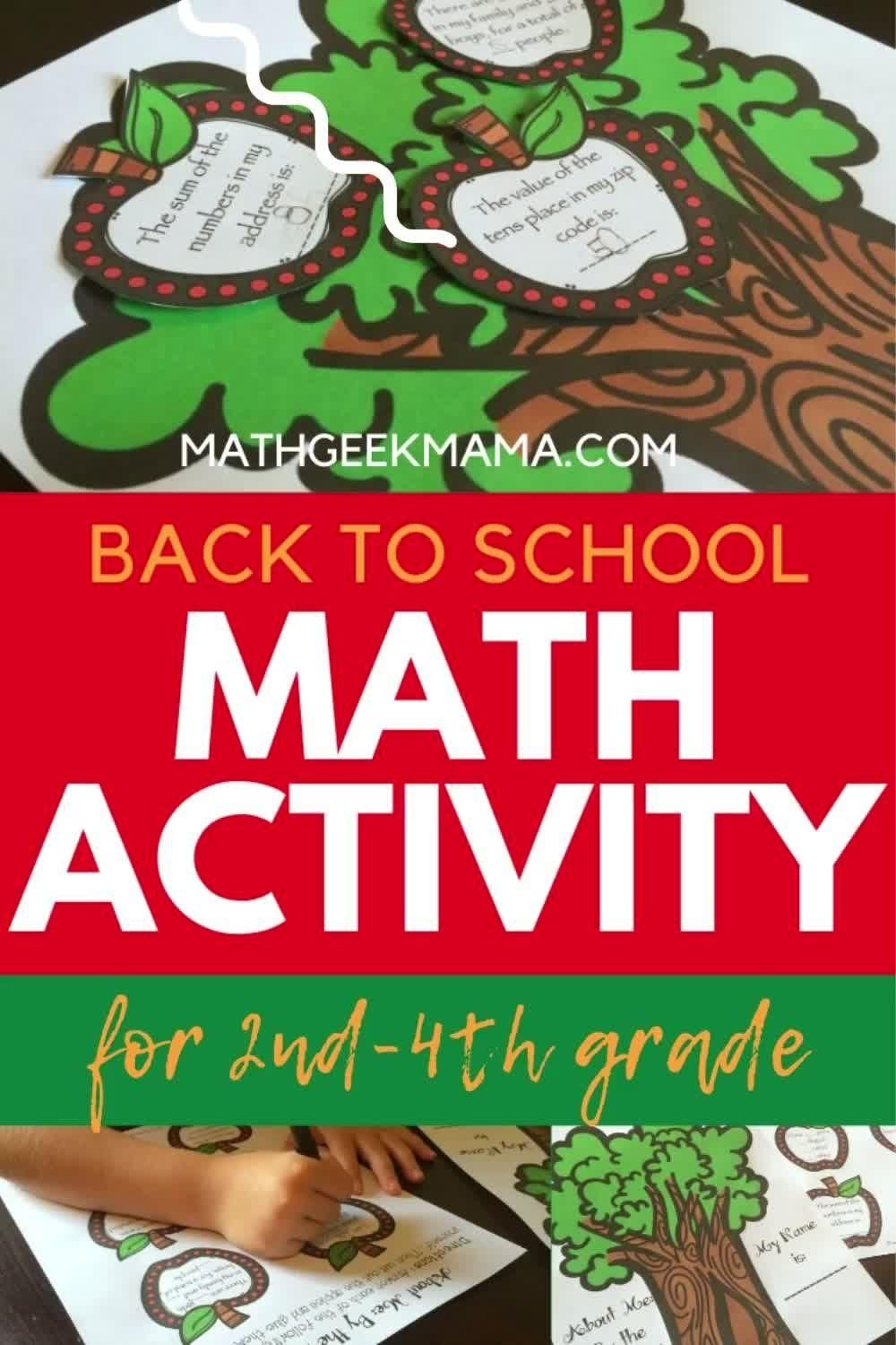 Apple Tree About Me A Back To School Math Activity Video Math Activities Fall Math Activities Kindergarten Math Games [ 1500 x 1000 Pixel ]
