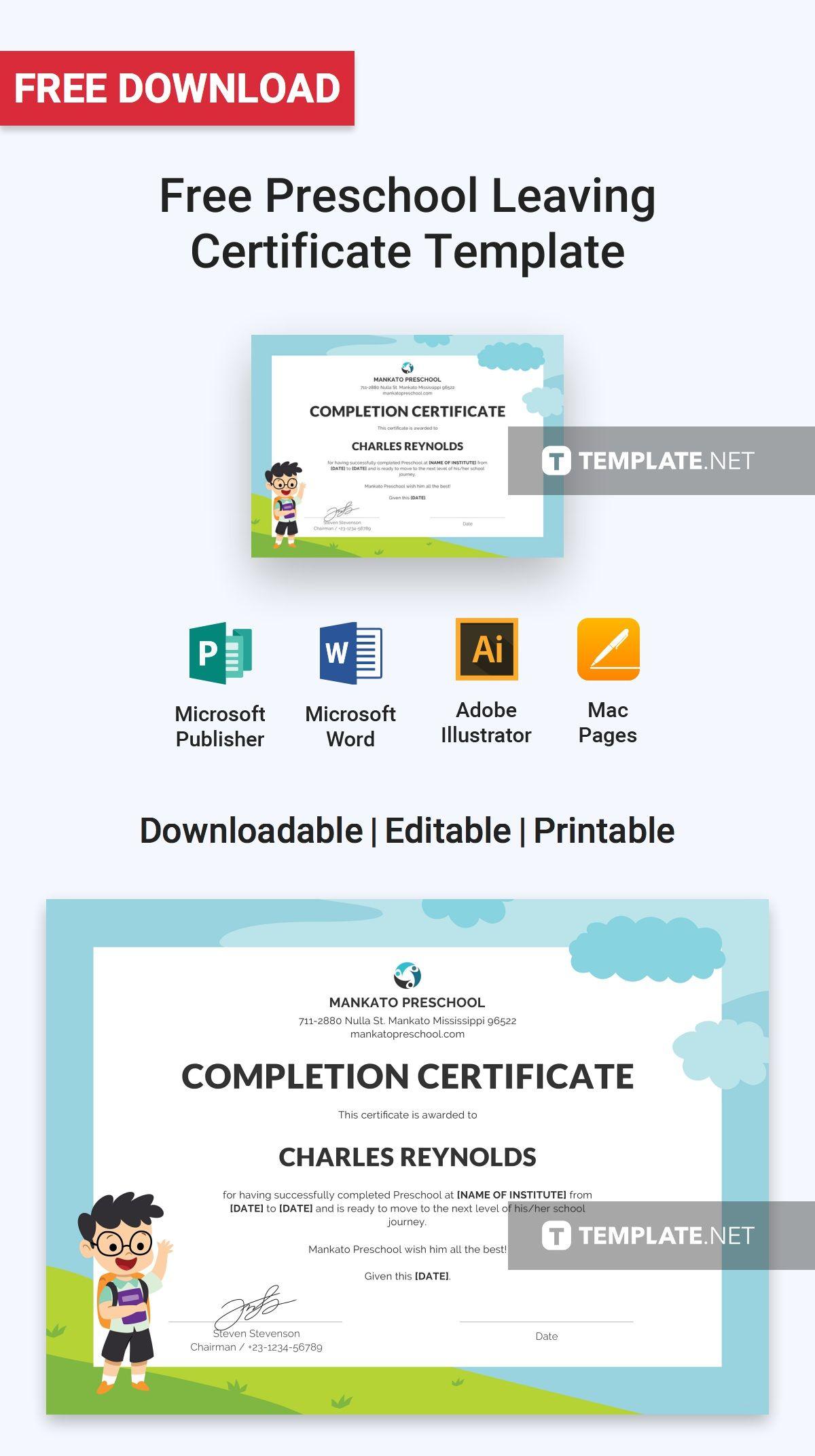 Free Preschool Leaving Certificate School Leaving Certificate