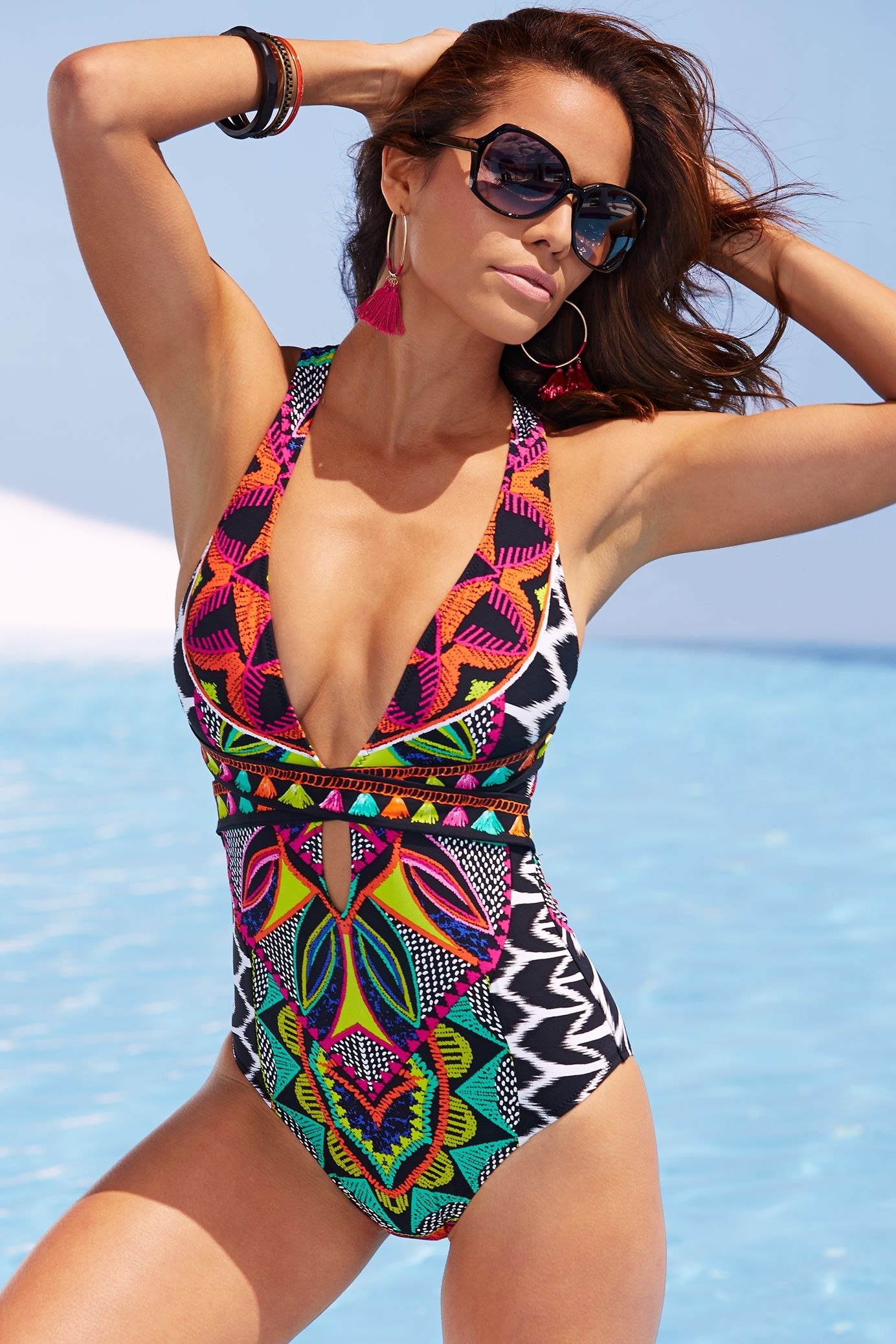 3dc2e4c1f75 The Chic Technique: Swimwear 2017 | Women's Bright and Bold Tassel One-Piece  Swimsuit by Trina Turk.