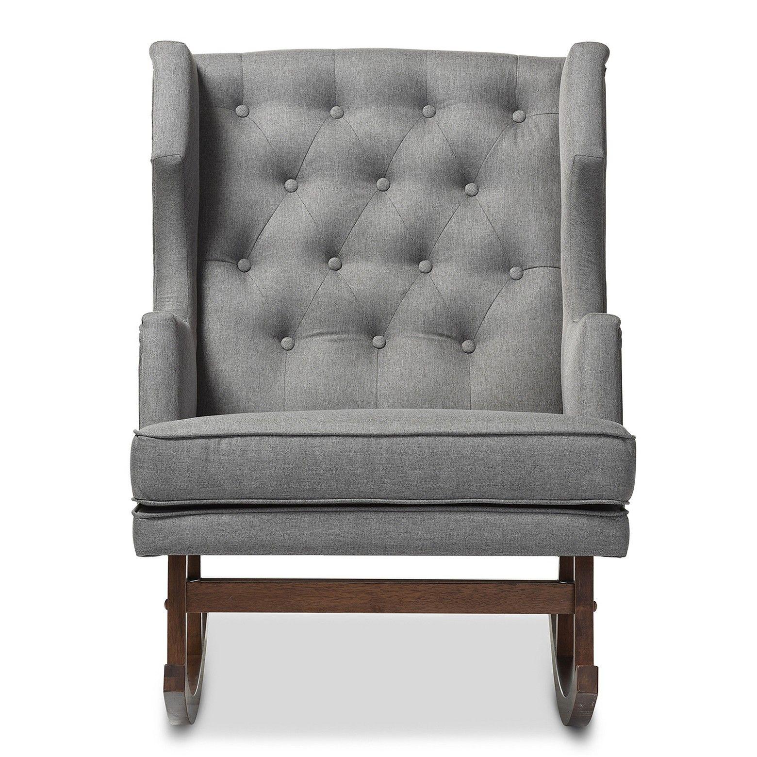 Baxton Studio Iona Mid  Century Retro Modern Fabric Upholstered