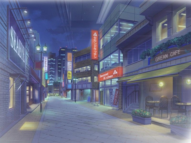 scenery cities Anime backgrounds