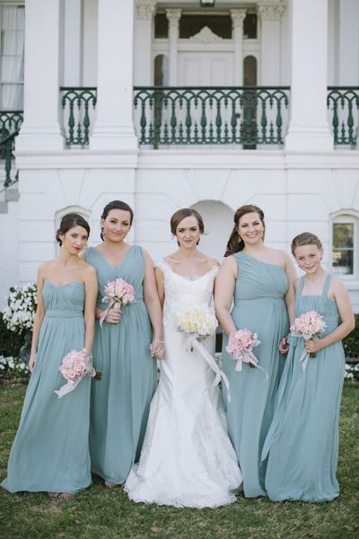 Elegant Louisiana Wedding by Leslie Hollingsworth | Teal bridesmaid ...