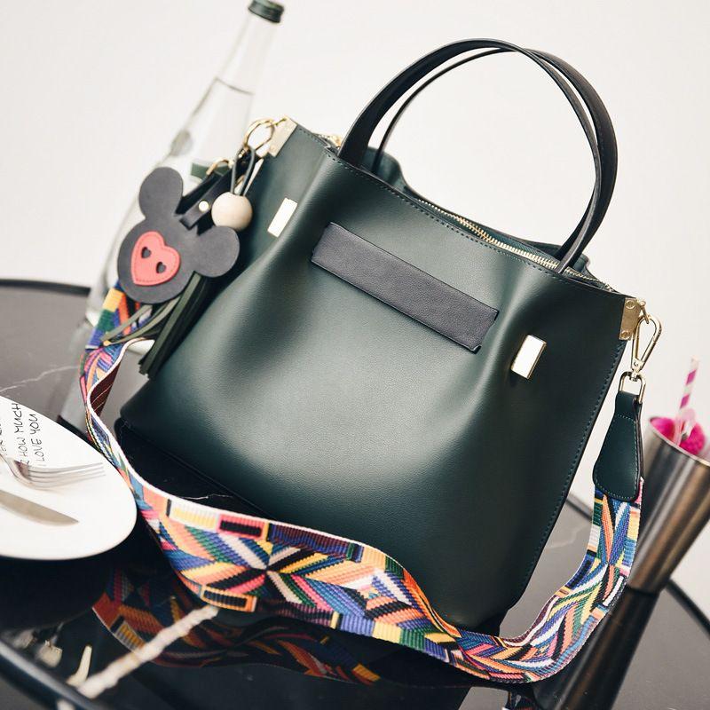 950332063f1b Top-Handle Women Bags Fashion Pu Women s Leather Handbags Black Women Bag  Tassel Fur Bag