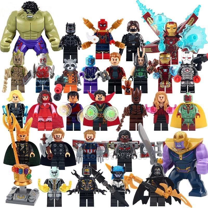 Single Super Hero New Thanos Big Size Marvel Avengers Infinity War Hulk