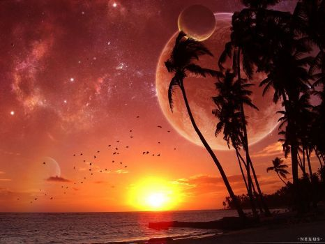 Tropical Island Sunset 300 Pieces Sunset Wallpaper Beautiful Nature Wallpaper Nature Wallpaper Beautiful wallpaper island sunset
