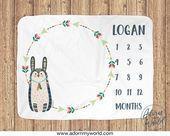#Baby #Blanket #Bunny #gender #Milestone #Monthly #Baby #Blanket #Bunny #Gender #Milestone #Monthly
