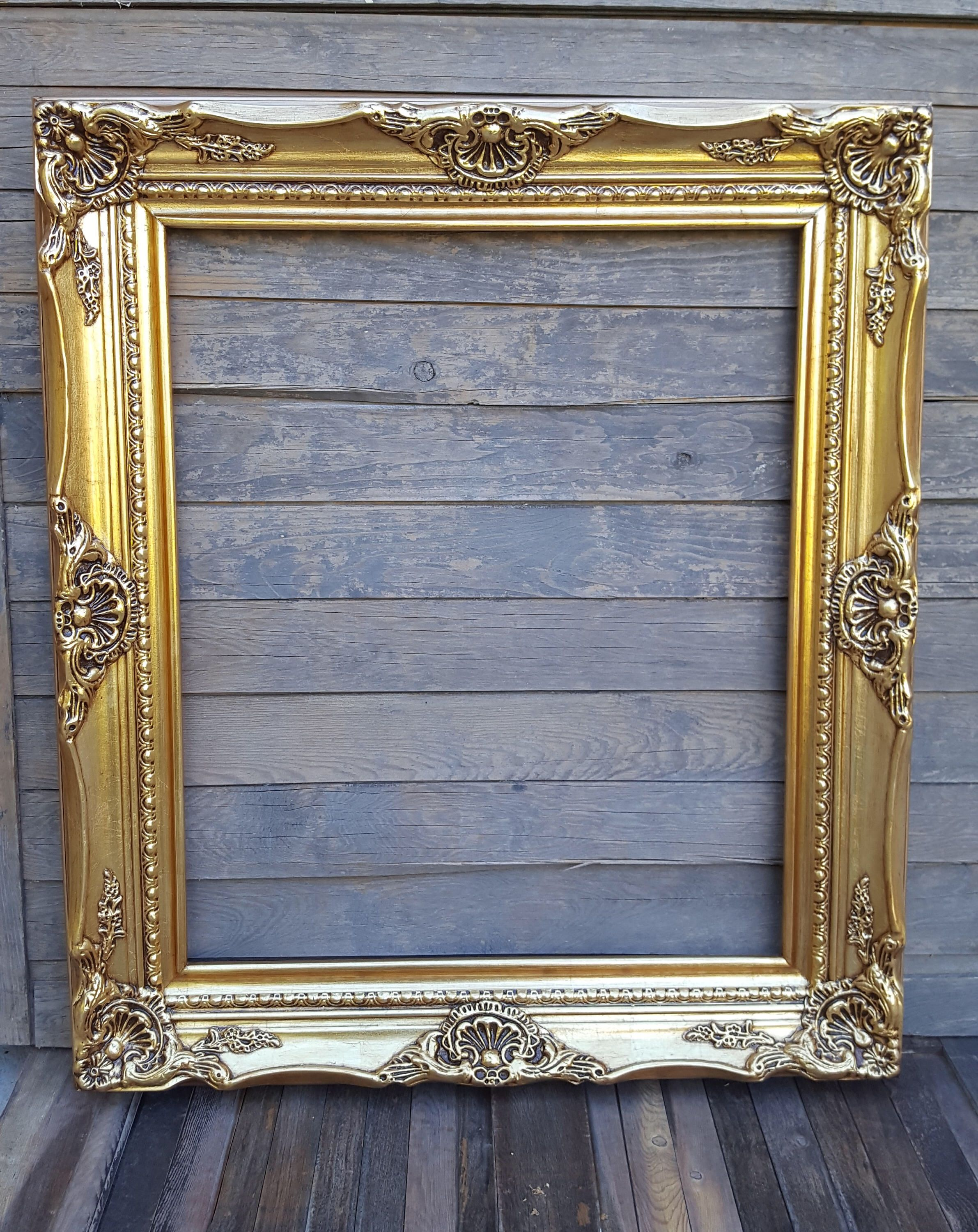 Classic Colonial Style Wood Picture Frame Gold Leaf Frame Etsy In 2020 Picture On Wood Wood Picture Frames Custom Picture Frame