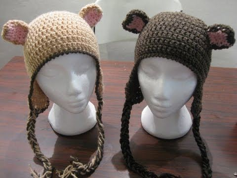 How to make Crochet Bear Ears - Put them on any hat c0ad7c22d9ab