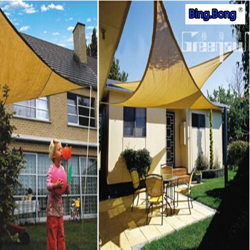 UV Waterproof Triangles sun shade sail awning outdoor Sun Shading net 3*3*3m : triangle canopy outdoor - memphite.com