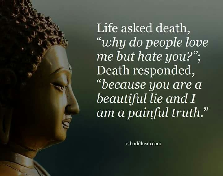 Buddha Quotes On Death And Life Amusing Life Is A Beautiful Lie While Death Is A Painful Truth