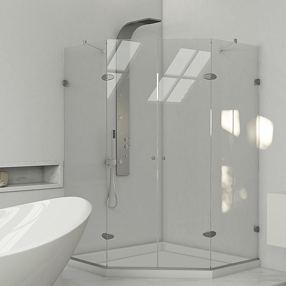 Vigo 42 Inch X 42 Inch Frameless Shower Stall In Clear With