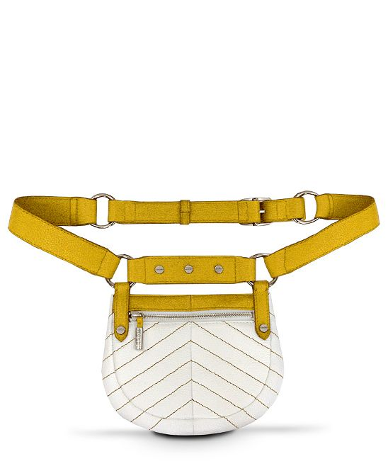 White & India Yellow Santa Monica Hip Bag | Daily deals for moms, babies and kids