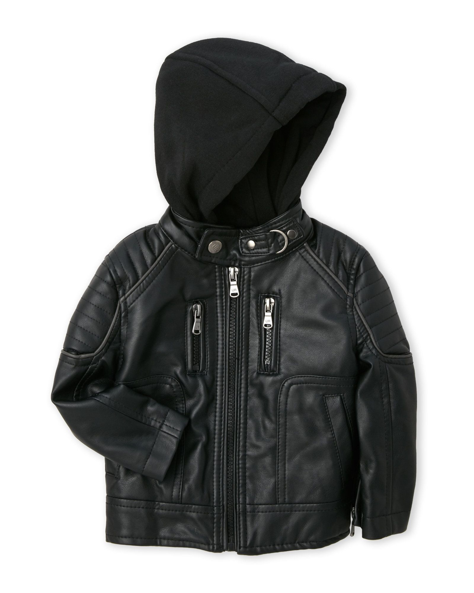(Infant Boys) Faux Leather Motorcycle Jacket Jackets