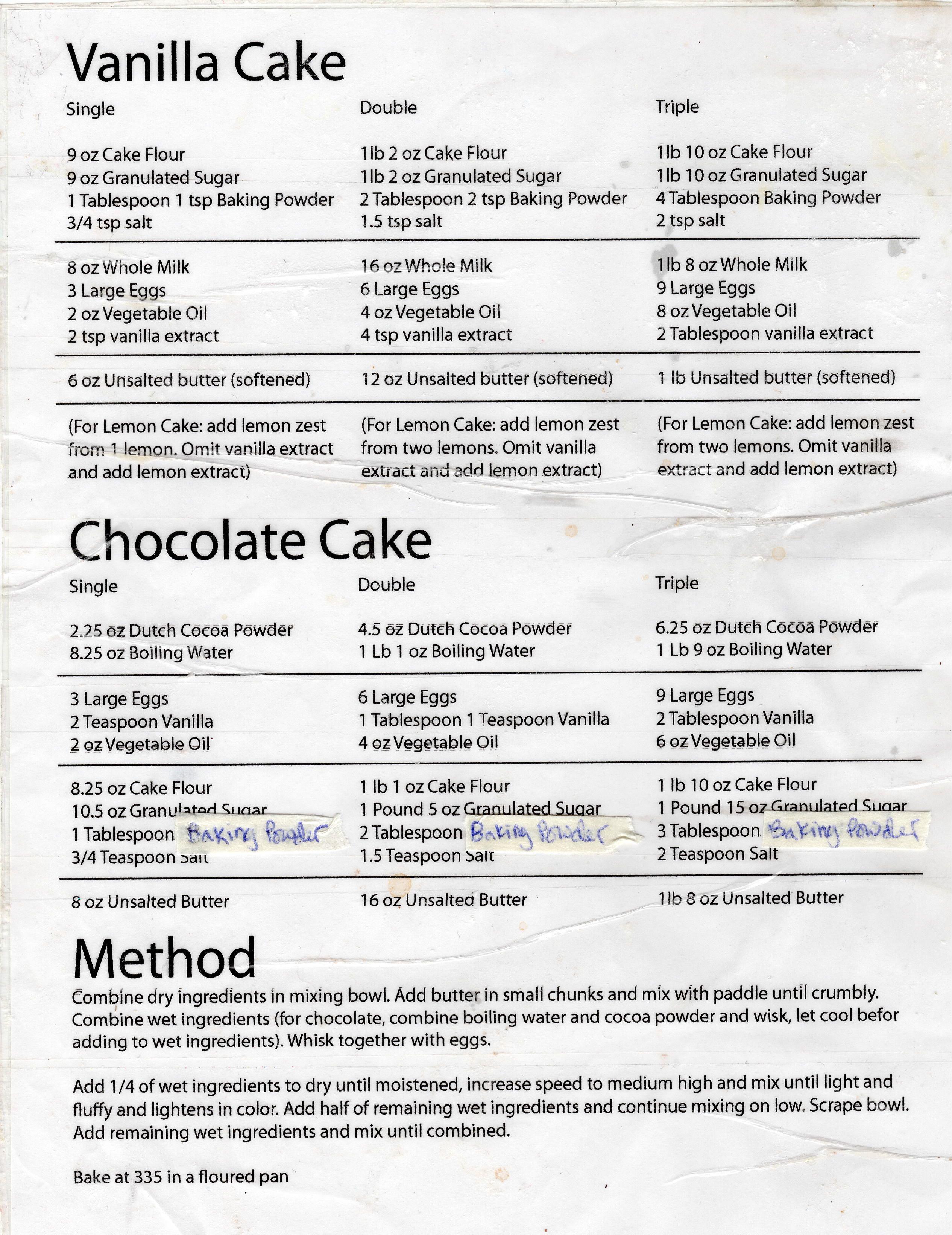 9 inch square vanilla cake recipe